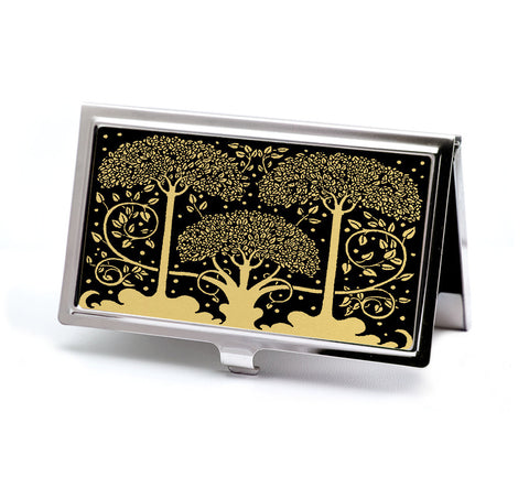 Art Nouveau Trees Business Card Case