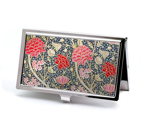 Crimson Floral Business Card Case -