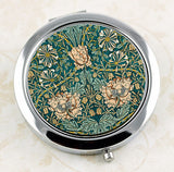 Honeysuckle floral compact mirror