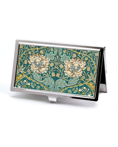 Honeysuckle floral business card case
