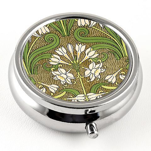 Art Nouveau Jonquil Pill Box by DecorativeDesignWorks.com