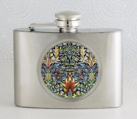 William Morris Snakeshead Flask by DecorativeDesignWorks.com