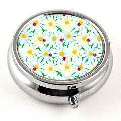 White Daisy Pill Box from DecorativeDesignWorks.com