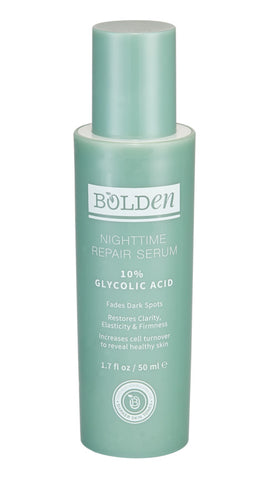 Bolden Nighttime Repair Serum with 10% Glycolic Acid