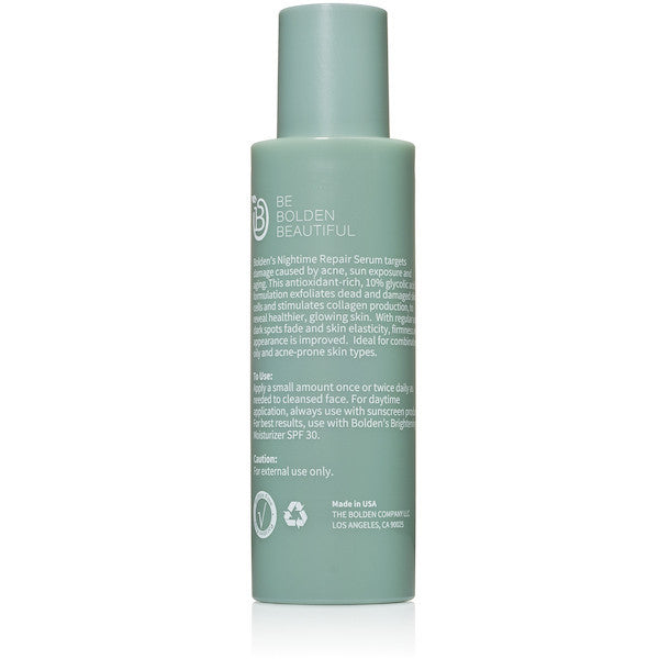 Bolden Nighttime Repair Serum with 10% Glycolic Acid back