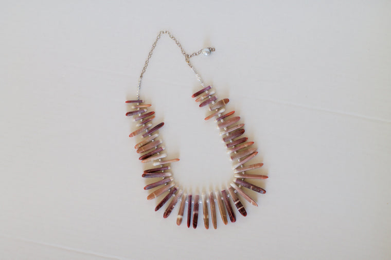 Brown Spiked Necklace