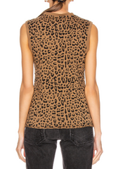 Muscle Tee Whiskey Leopard