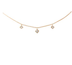 LexiMazz 14k Gold Signature Three Motif Diamond Necklace