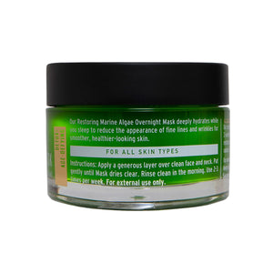 Back of Restoring Marine Algae Overnight Mask Jar