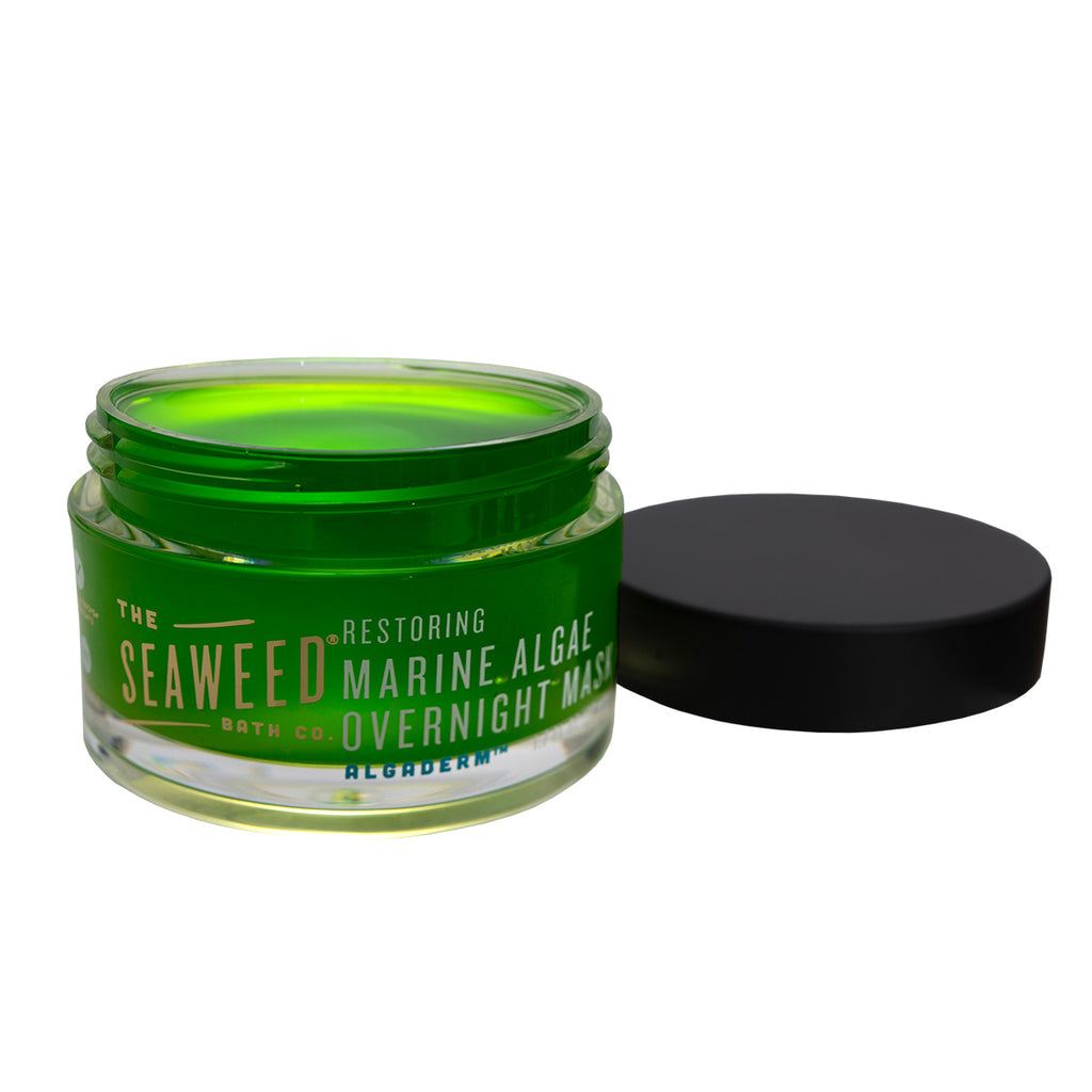 Restoring Marine Algae Overnight Mask Jar with Cap off