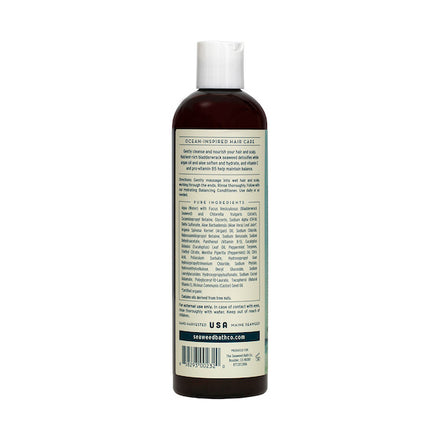 Back of Hydrating | Balancing Shampoo in Eucalyptus & Peppermint Bottle