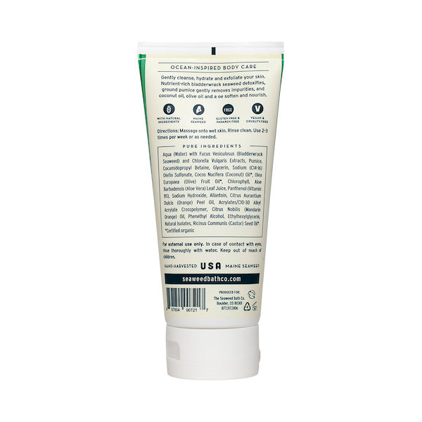 Back of Hydrating | Exfoliating Body Scrub in Citrus Vanilla Tube