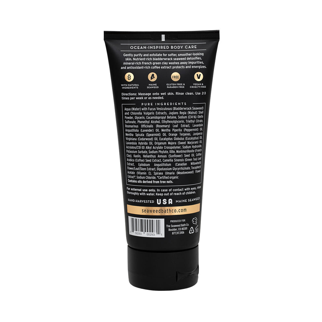 Back of Detox | Exfoliating Body Scrub in Awaken Scent Tube
