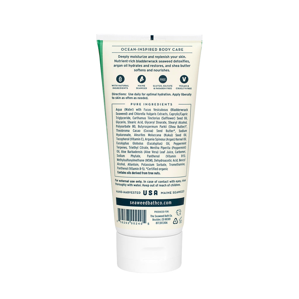Back of Hydrating | Soothing Body Cream in Eucalyptus & Peppermint Tube