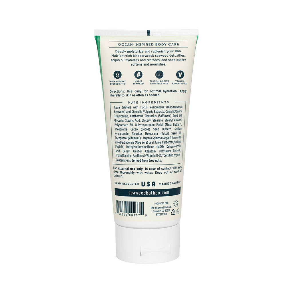 Back of Hydrating | Soothing Body Cream in Unscented Tube