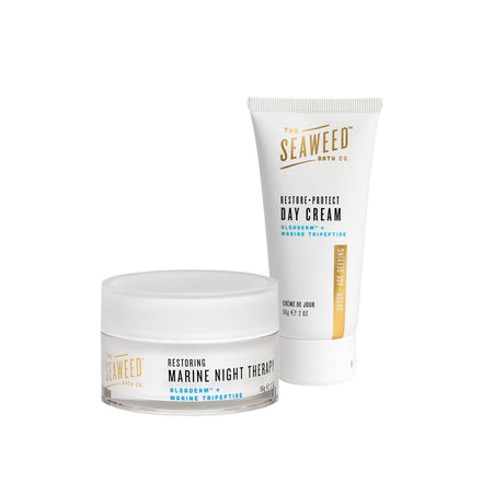 Good Hydrations Set with 2 full-size products: Restore + Protect Day Cream and Restoring Marine Night Therapy