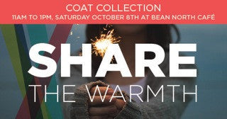 Share the Warmth Coat Collection event at our Cafe