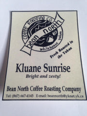 One of Bean North Coffee's old style labels from the 90s