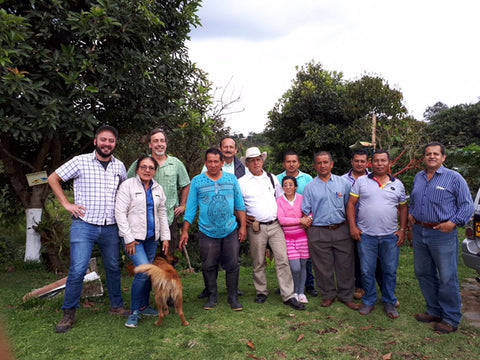 Andrew and Gloria Omyra hosted on their organic coffee farm - Colombia