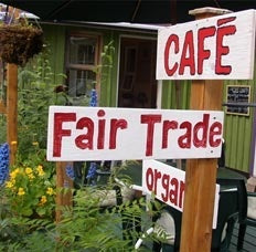 Fair Trade Organic coffee at Bean North's cafe