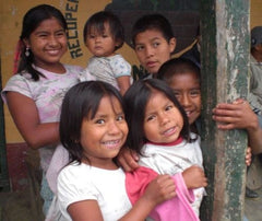 Children at Colombian coffee producer group Fondo Paez | Bean North Coffee Roasting Co. Ltd.