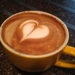 Latte with heart | Bean North Cafe, Whitehorse, Yukon