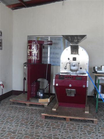 'Big Red', Bean North Coffee's old roaster is now used by the SOPEXCCA co-op in Nicaragua