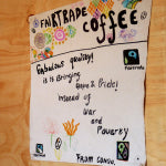 Fair Trade is awesome. Poster at Sopacdi in DR Congo | Bean North Coffee Roasting Co. Ltd.