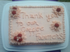 "Another cake! ""Thank You Coffee Farmers!"""