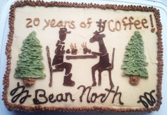 Bean North Coffee's birthday cake