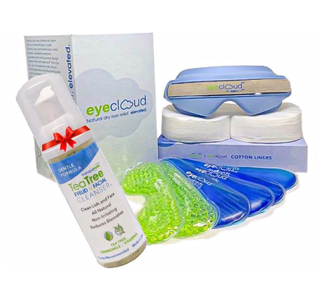 ***HOLIDAY SPECIAL***EyeCloud Home Treatment Kit with Gentle Tea Tree Foaming Cleanser