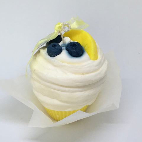 Lemon & Blueberry Cupcake Candle