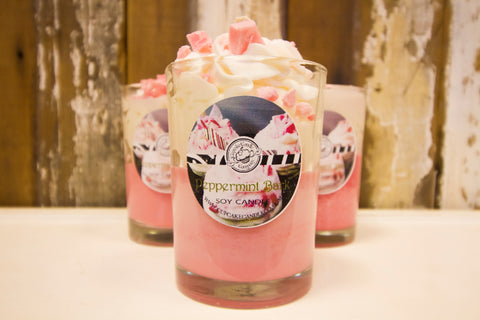 Peppermint Bark Drink Candle