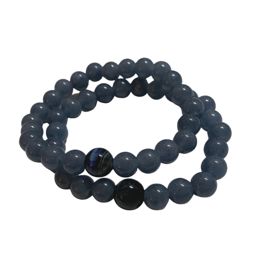 Blue Tigerseye Gemstone Bracelet