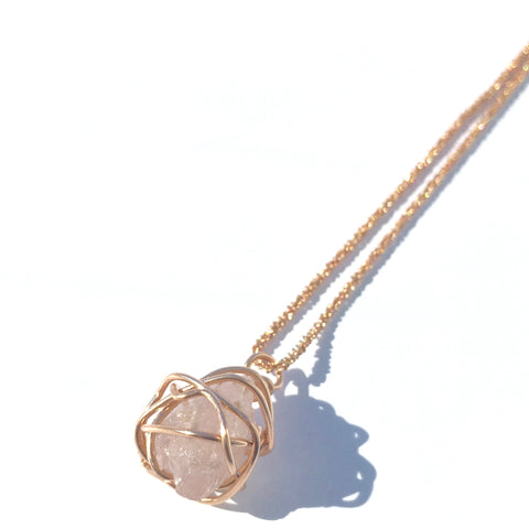 Rose Gold & Rose Quartz Necklace