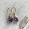 Amethyst Crystal Earrings dipped in Gold