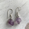 Amethyst point Earrings dipped in Silver