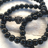 Black Panther Pave Mens Gemstone Bracelet