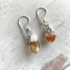 Citrine Crystal Earrings dipped in Silver