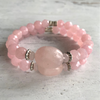 Blush Pink Stone & Rose Quartz Bracelet