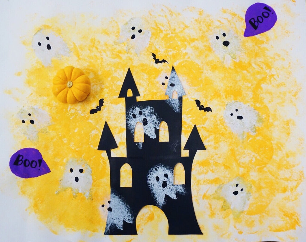 Halloween Time Sponge Painting DIY for Kids