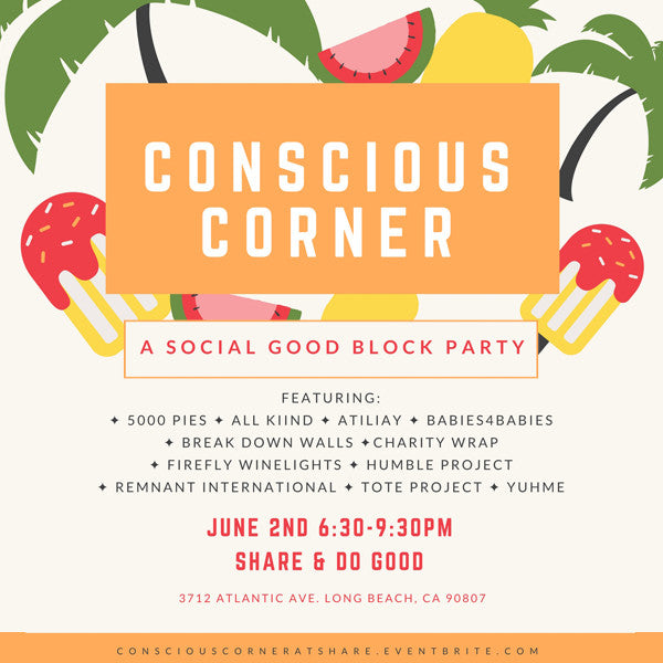 Conscious Corner Pop-Up Invitation