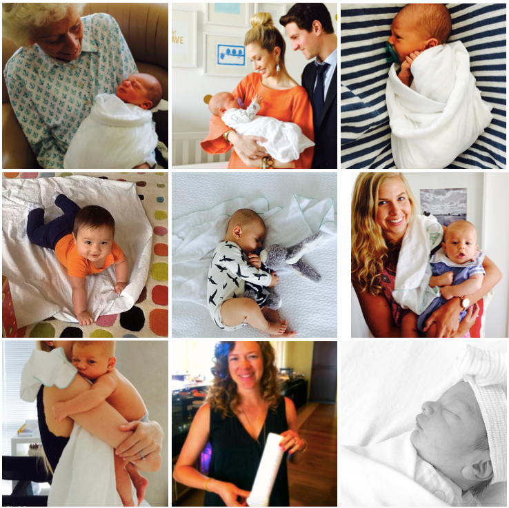 Adorable babies bundled in Babies4Babies Swaddles