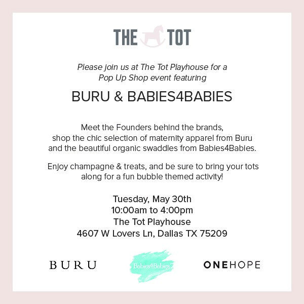 Pop-Up with Babies4Babies and Buru at The Tot