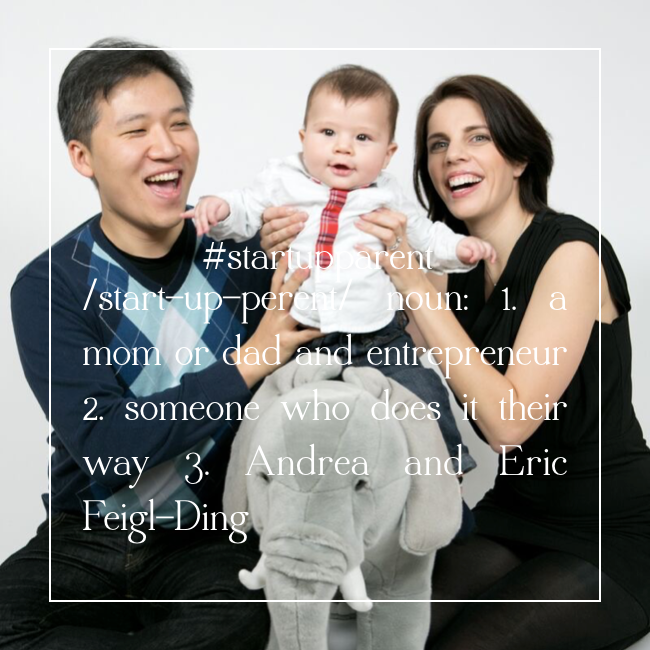 #startupparents Andrea and Eric Feigl-Ding
