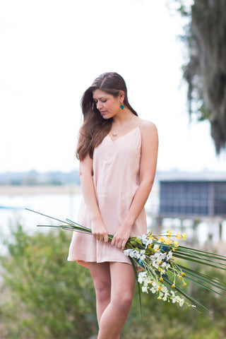 blush slip dress