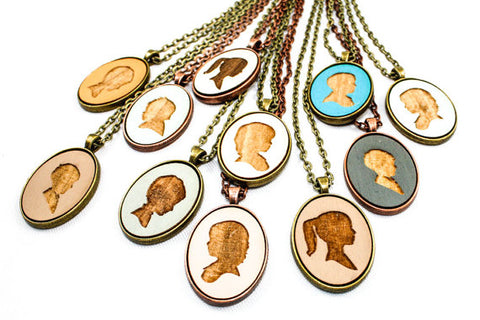 personalized portrait necklaces