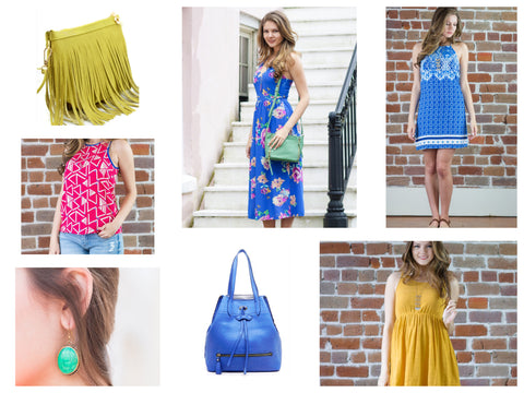Dress bright this season in colorful dresses and tops