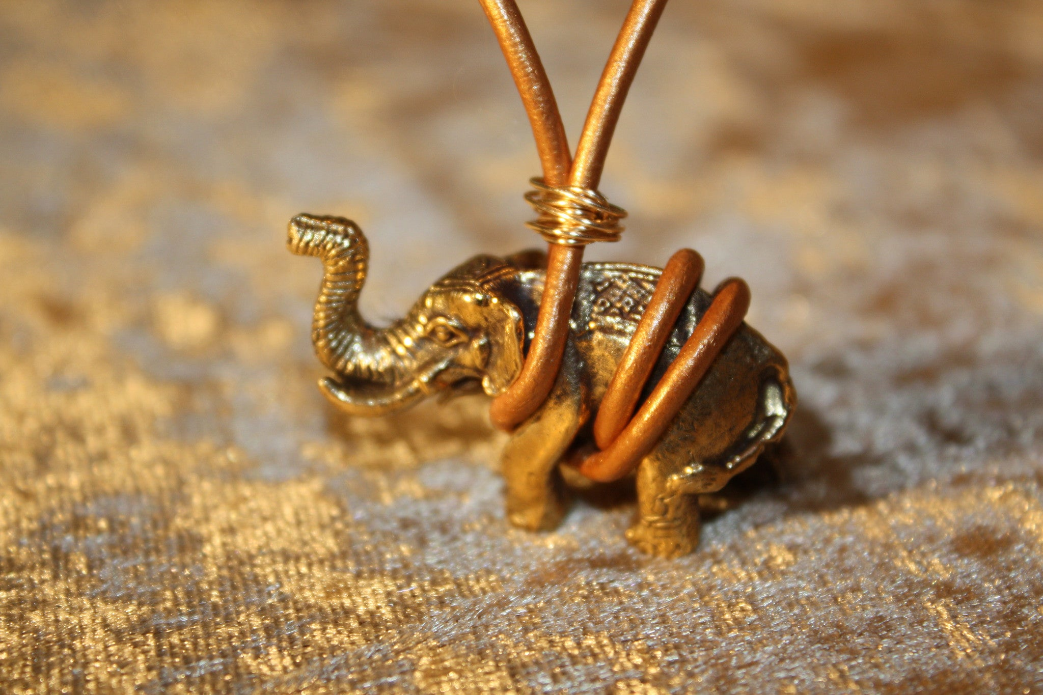 Royal Elephant Leather Necklace // SOLD OUT