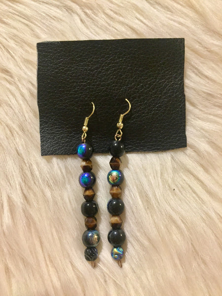 Galaxy Tigers Eye earrings